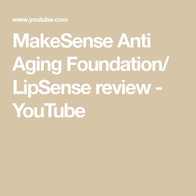 MakeSense Anti Aging Foundation/ LipSense review - YouTube