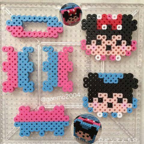 Mickey Minnie coin box perler beads