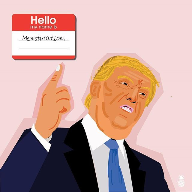 If my period was a person. The PMS series . . . . . . . #graphicdesign #illustration #Behance #graphicdesing #meme #graphic #funny #trump #donaldtrump #hillaryclinton #pms #mesturation #period #periodproblem #buzzfeed #electionday #art #hillary2016 #transformationtuesday #buzzfeednews #meme #dumptrump #trevornoah #9gag #humor #trumpscandal #india #graphicdesigner #instagood