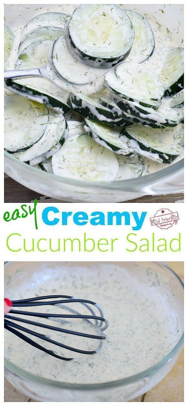 Creamy Cucumber Salad Recipe With Sour Cream Mayo And Dill Recipe Cucumber Recipes Salad Sour Cream Cucumbers Creamy Cucumber Salad