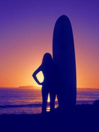 ✈ Surfer Girl Silhouette ✈