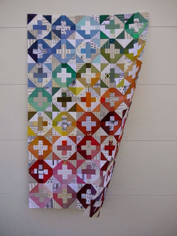 Cross and low volume quilt | image only - don't know source