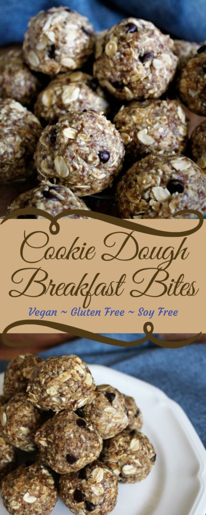These healthy cookie dough breakfast bites are a quick, easy, grab and go breakfast, snack or healthy dessert. They are dairy, egg, gluten, and nut free, but full of fiber and nutrients. thehiddenveggies.com