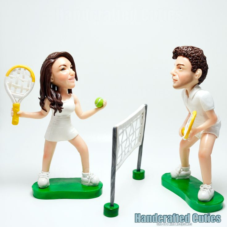 tennis wedding cake topper 13 best images about handcrafted cuties selfies on 20798