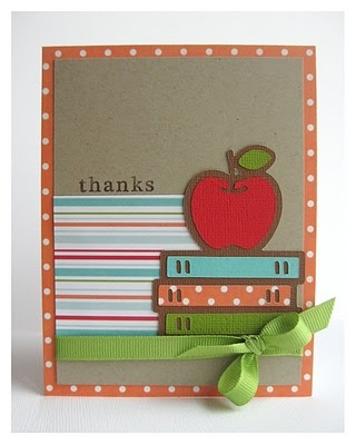 cute teacher card - from Raspberry Kate