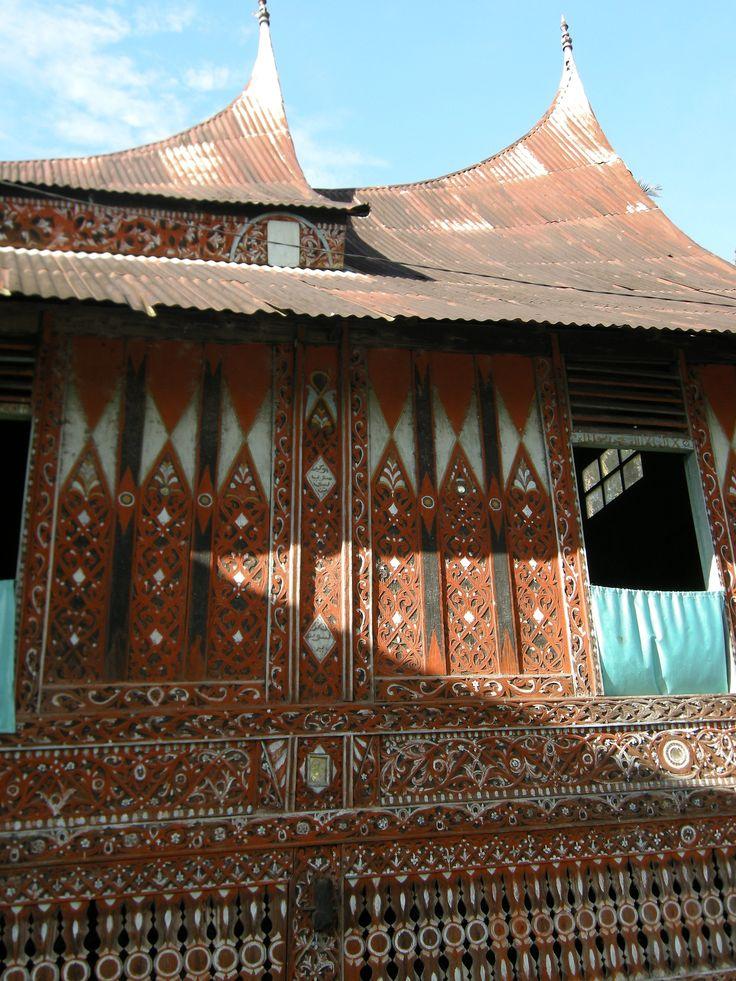 detail from a traditional Minangkabau house, Sumatra, Indonesia, by selmadisini 2008