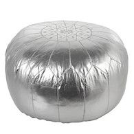 Gibraltar Pouf - Silver | Bean-bags-poufs | Bedding-and-pillows | Z Gallerie - Zgallerie