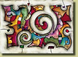Cuadro decorativo abstracto al oleo