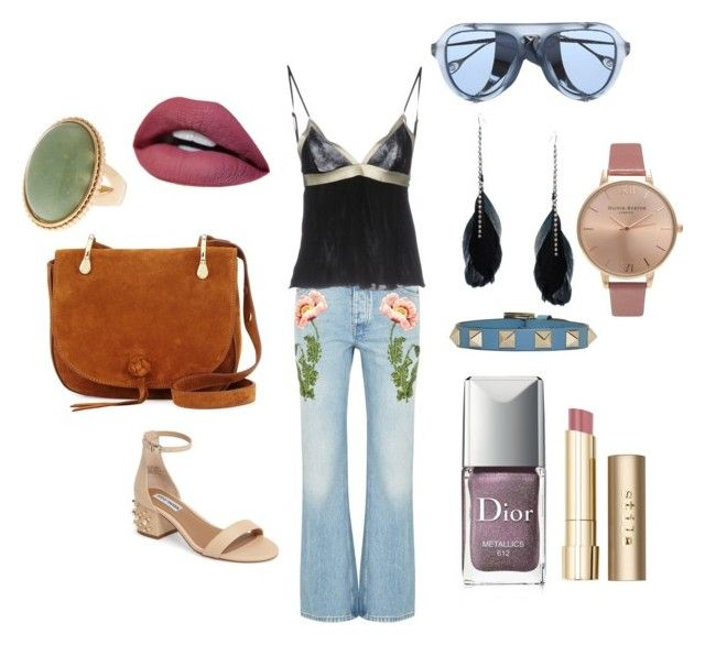 Flores by loulou-luna on Polyvore featuring moda, GUESS by Marciano, Gucci, Steve Madden, Elizabeth and James, Olivia Burton, ASOS, Valentino, Stila and Christian Dior