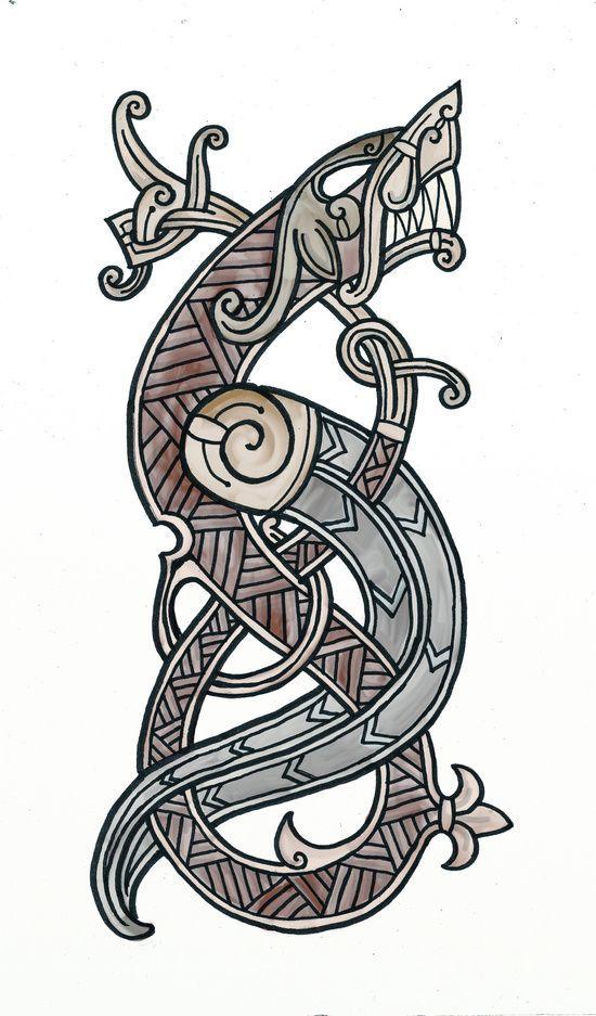 Viking dragon canvas print