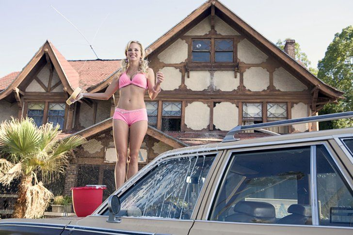 Pin for Later: The Ultimate Bikini Movie Gallery Anna Faris, The House Bunny Faris's Playboy Bunny Shelley knows there's no better fundraiser than a bikini car wash!