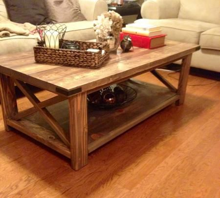 my hubbys making this anna white coffee table u0026 matching end tables for me