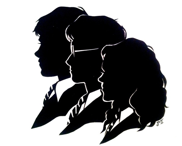 harry potter silhouette - Google Search                                                                                                                                                                                 Plus