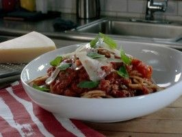 Light Spaghetti with Homemade Sauce : Recipes : Cooking Channel