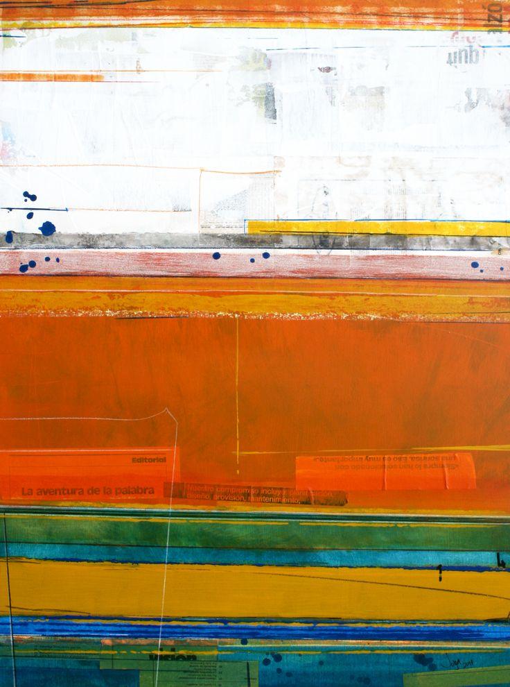 LA AvenTUra de la pAlabRA 80 x 60 cm Mixed Media on Wood 2014