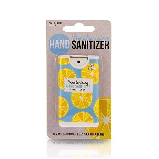 Mad Beauty New Fruit Moisturising Hand Sanitizers Lemon Hand