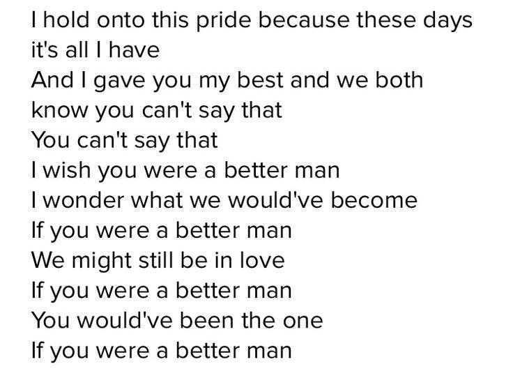 Better man - Little big town