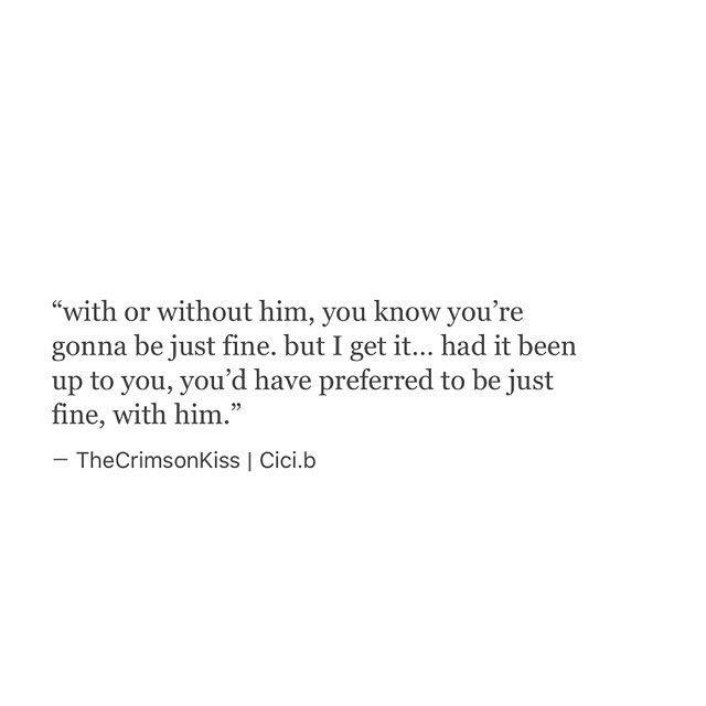 I get it... Believe me, I do. #Cicib #thecrimsonkiss
