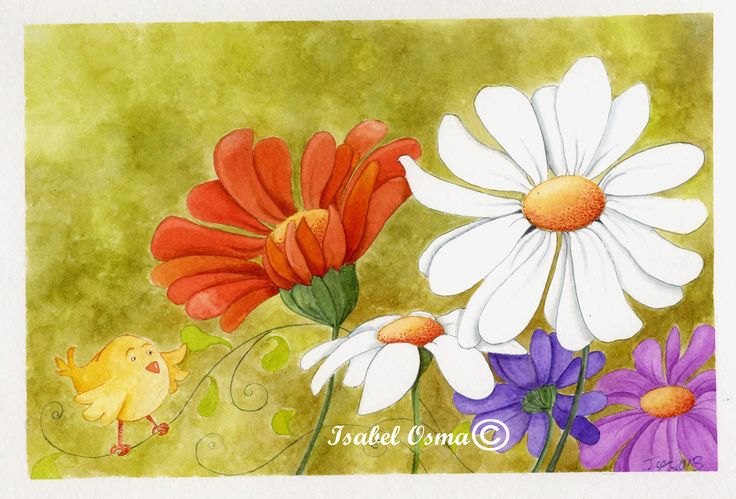 Ilustración de Isabel Osma  hola primavera!!