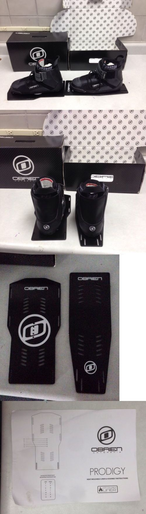 Waterskis 71175: O Brien Prodigy Boot Left And Right Size 9 Water Ski Bindings(Sizing Runs Small) -> BUY IT NOW ONLY: $65 on eBay!