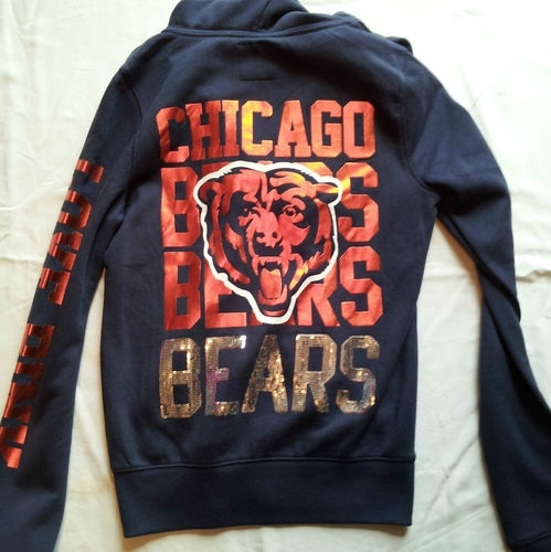 Women New Small Victoria's Secret Love Pink Chicago Bears Sweatshirt Hoodie