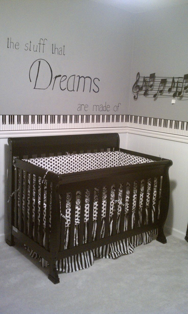 Music Themed Nursery I Think Jeffery Would Make Sure Our Kid Had This In The Future