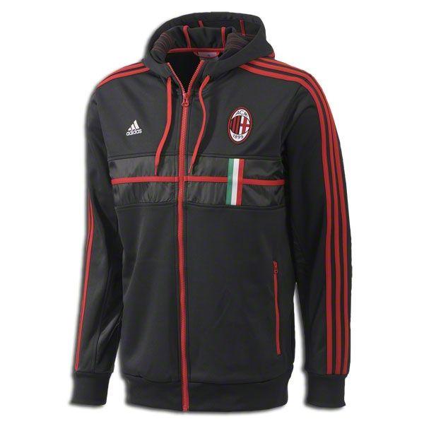 adidas AC Milan Hooded Anthem Jacket 2013