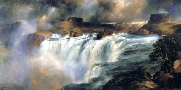 "Today, the museum will announce that Thomas Moran's 1900 painting, ""Shoshone Falls on the Snake River,"" will come to Portland. Description from oregonlive.com. I searched for this on bing.com/images"