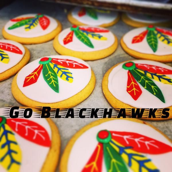 Sweet T's Bakery is making #Blackhawks cookies and boy do they look delicious!