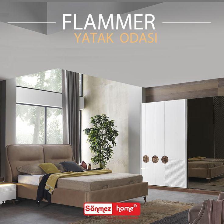 Flammer Modern Yatak Odası Takımı ile haftaya huzurlu ve keyifli başlayın! #Modern #Furniture #Mobilya #Flammer #Yatak #Odası #Sönmez #Home