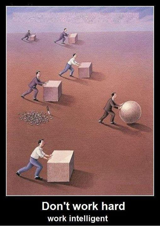 Don't work hard, work intelligent