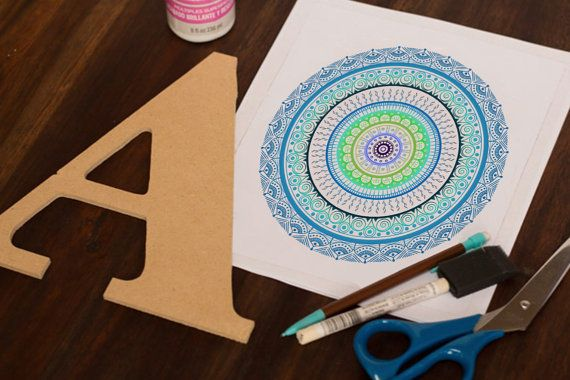 Hand Drawn Mandala Print  Bright Blue Mandala by WestridgeART