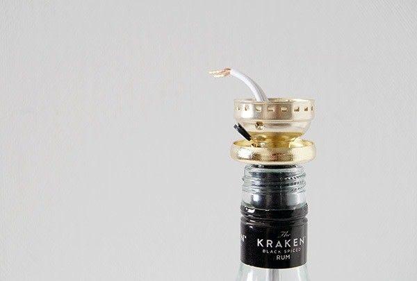 How to make a bottle lamp. Diy Liquor Bottle Lamp - Step 10