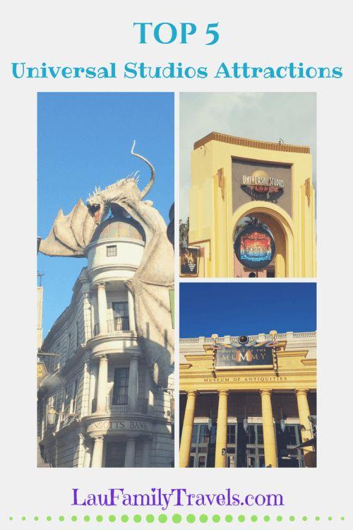 Universal Studios Attractions in Orlando