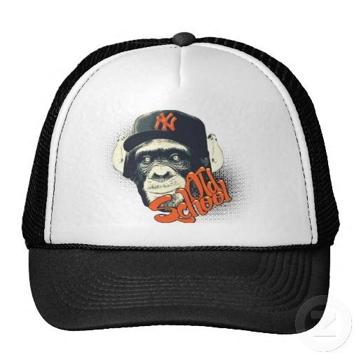 Old school swag monkey mesh hats