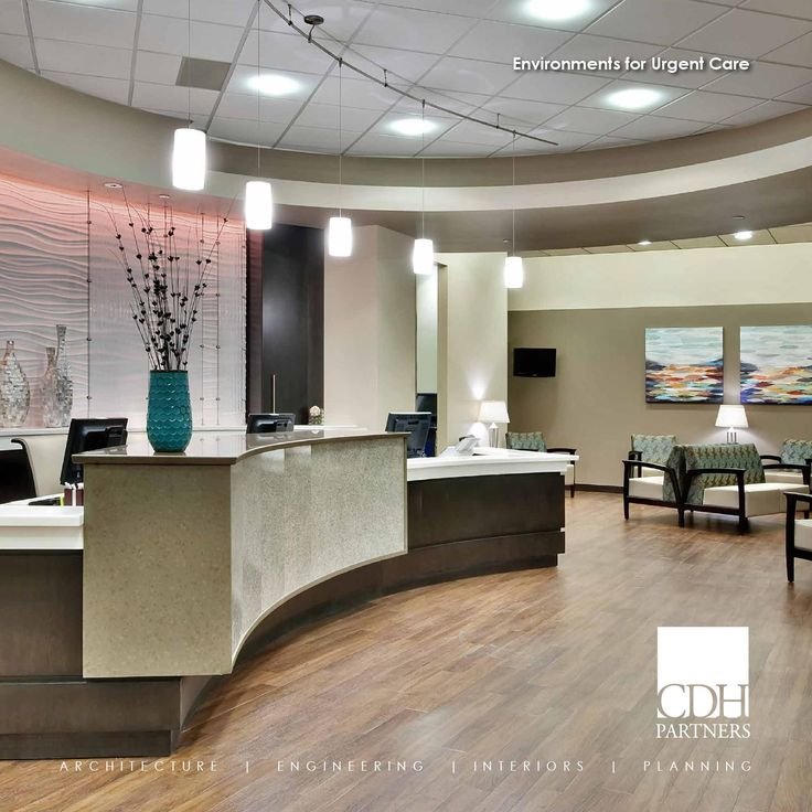 Environments for Urgent Care  CDH designs Urgent Care facilities that are an excellent alternative when a primary care physician is not available. Our state-of-the-art facilities are warm, inviting, and incorporate natural light and solid surfaces that are safe and easy to maintain. These spaces are providing an important solution for meeting the needs of today's patients.