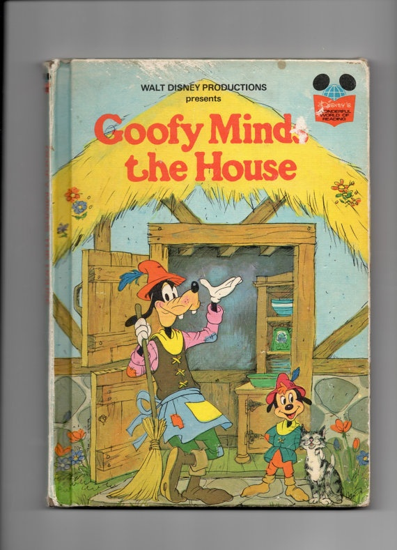 BOOK SALE Walt Disneys Goofy Minds The House 1975 By SunsetStreet 600