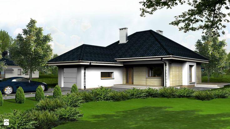 Parterowy dom z garażem - Domy - Styl Klasyczny - freshR - pracownia projektowa
