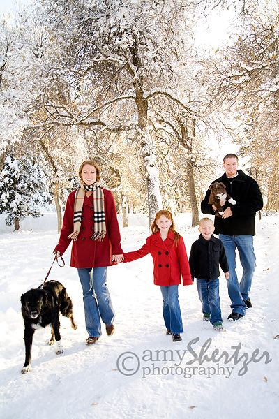 I want a family pic with my puppies included....this would be perfect because they won't hold still for a posed pic....