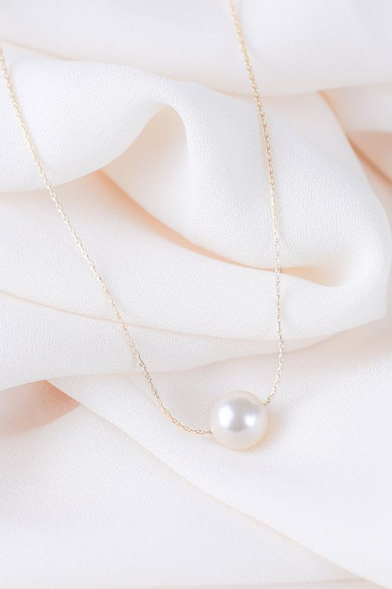 Ivory Gold Pearl Necklace Ivory Pearl Necklace by PennerPearls