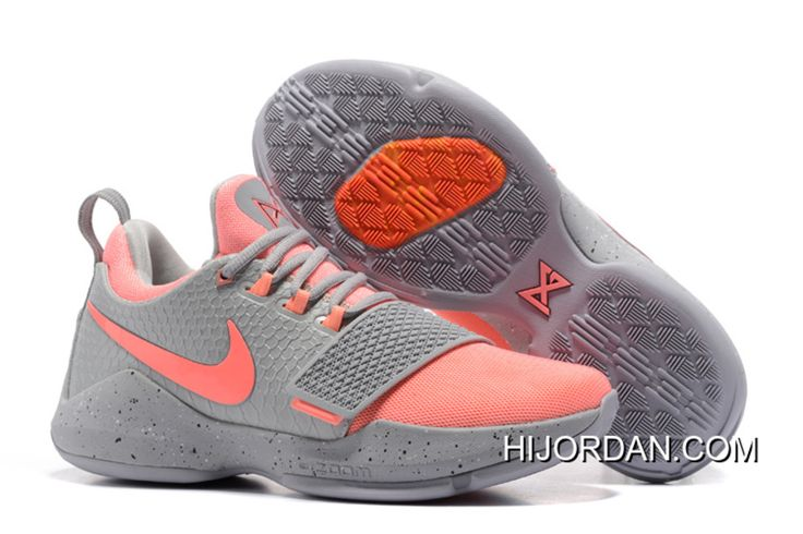 Nike PG 1 Gray Peach Red Men's Basketball Shoes New Style