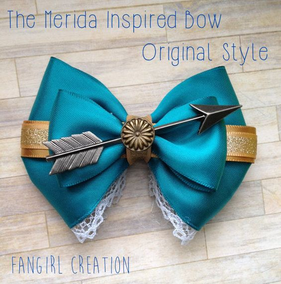 The Merida Inspired Bow by FangirlCreation on Etsy