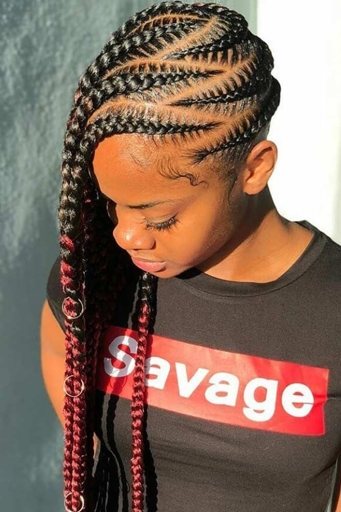 Lemonade Braids That Make Your Hair Style Even Sweeter Lemonade Braids Hairstyles African Braids Hairstyles Hair Styles