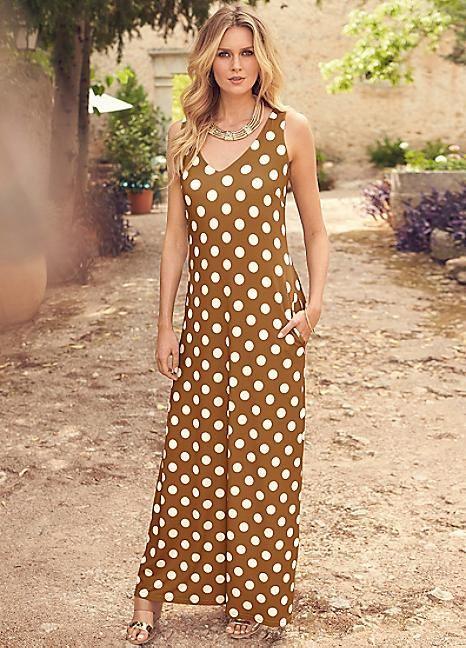 Spot Print A-Line Maxi Dress  #PackingForMe #Kaleidoscope #Summer #Holiday