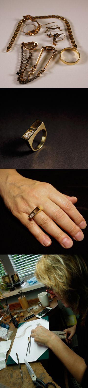 Het eindresultaat van een prachtige Gouden damesring met het haar en het as van haar overleden vader, vervaardigd van dierbaar goud van de klant zelf. Het as en het haar is door de klant zelf geplaatst #goudsmidmetpassie #asring #assieraden #ring #omdatikjemis #goudsmidgroningen #dutchdesign