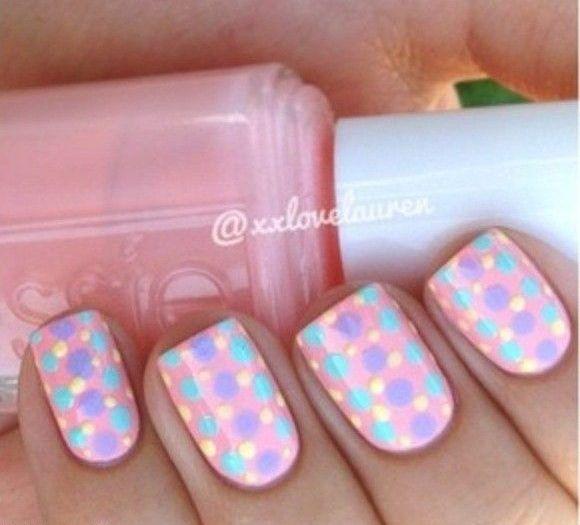 احدث الوان مناكير باستيل و بنفسجي و فضي و سماوي 2019 Latest Nail Polish Pastel Violet Silver And Cya Dot Nail Designs Dot Nail Art Designs Dots Nails