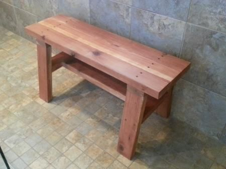 Redwood Shower Bench Do It Yourself Home Projects From