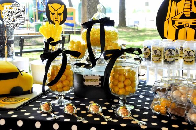 bumble bee transformer birthday party | Transformers Birthday Party Ideas
