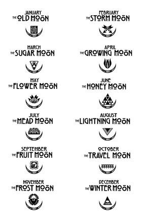 The Seasonal Moons Mean. Cool tattoo idea! RePinned By: Live Wild Be Free www.livewildbefree.com Cruelty Free Lifestyle & Beauty Blog.