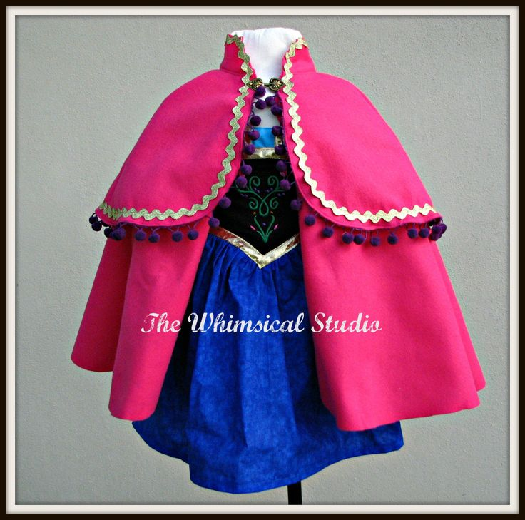 Check out Anna Dress and Cape/ Anna Costume /  Princess Dress and Cape / Anna Cape / Princess Anna /Dress and Cape in my Etsy shop today!⚡️ https://www.etsy.com/listing/204139933/anna-dress-and-cape-anna-costume?utm_campaign=crowdfire&utm_content=crowdfire&utm_medium=social&utm_source=pinterest
